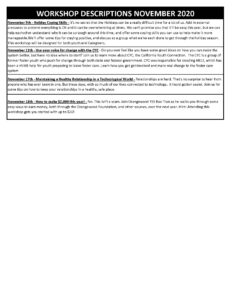 ilp schedule nov 2020. p2 1