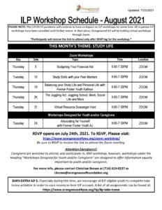 ilp schedule august full 2021 1